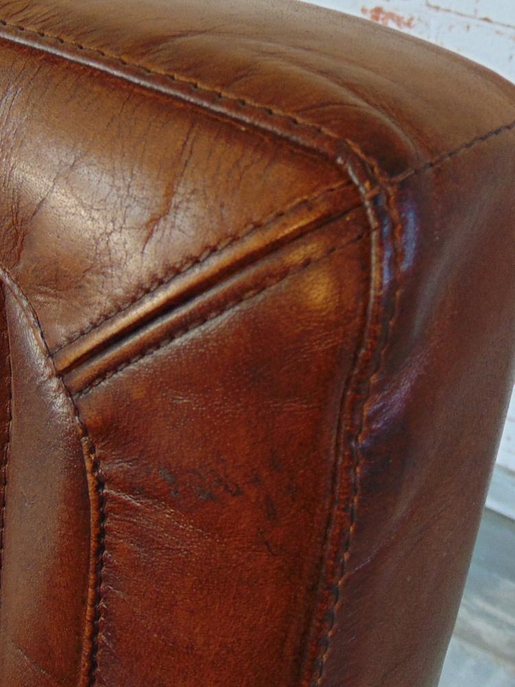 Echtes Büffelleder Ledermoebeldesign Vintage Sofa Sessel Stuhl
